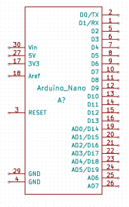 Arduino nano for Kicad